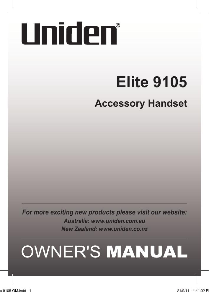elite 9105 om manualzz com rh manualzz com
