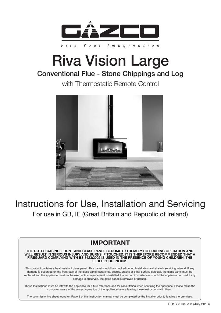 Gazco Riva Vision Large Gas Stove Instructions | manualzz com