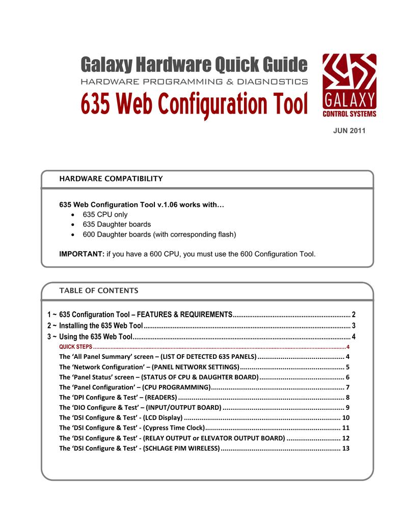 635 Web Configuration Tool | manualzz com