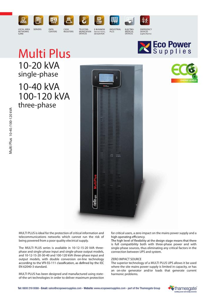 Riello Multi Plus UPS | manualzz com