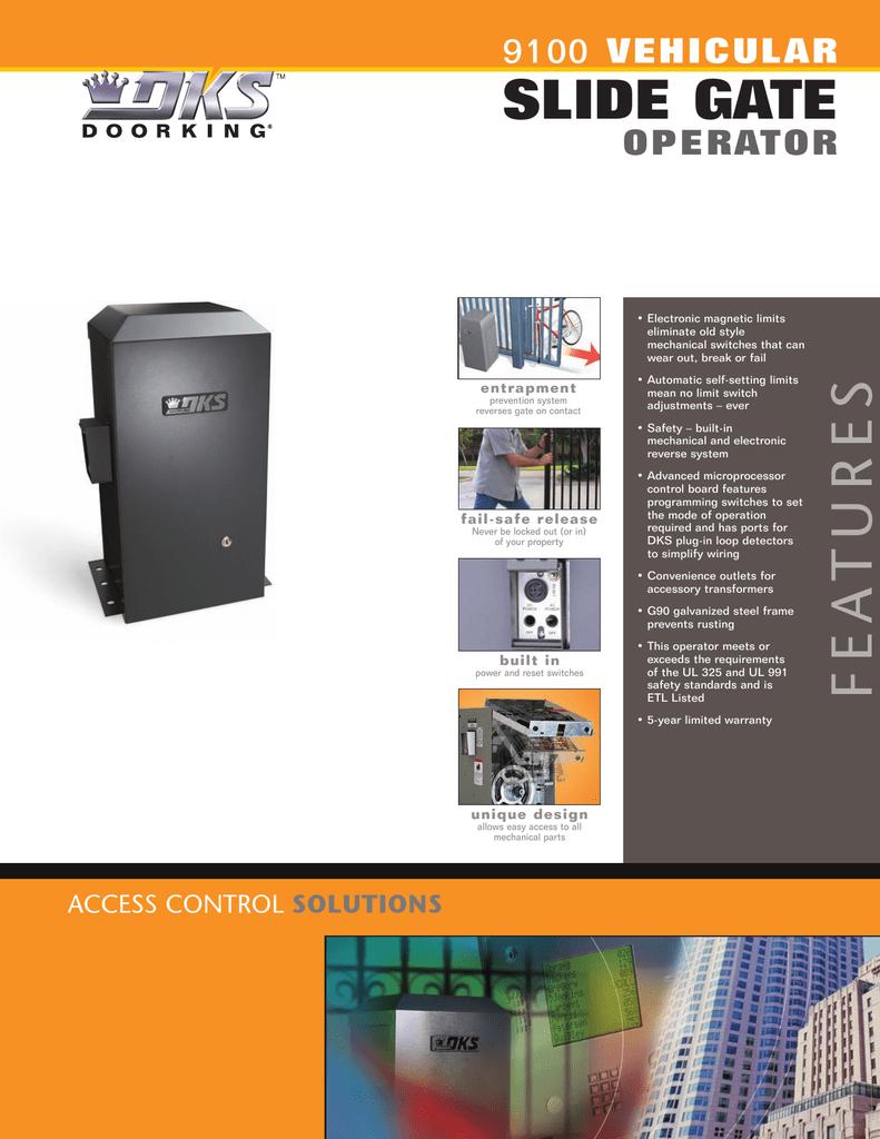 DoorKing 9100 Slide Gate Opener Commercial Gate Operator