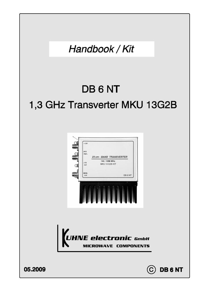 KUHNE_Electronic_MKU13G2B | manualzz com