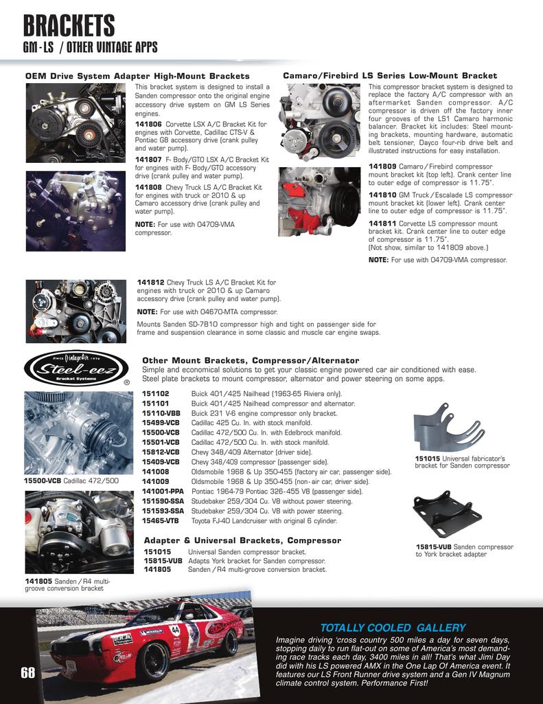 LS Brackets, Buick, Cadillac, Olds, Etc  Steel | manualzz com