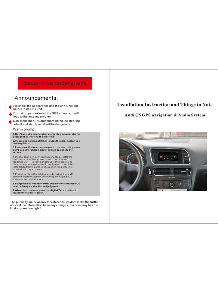 Audi A5/S5/RS5 Aftermarket Navigation Head Unit Installation