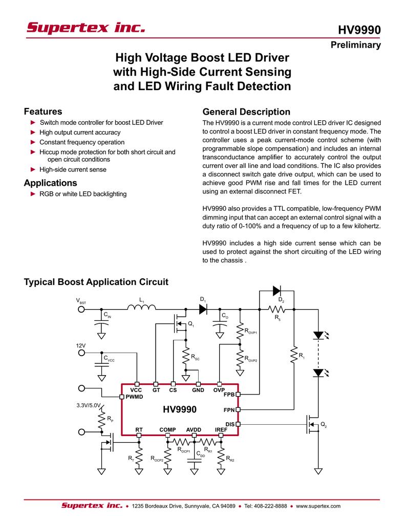 Datasheet For Hv9990 By Supertex Ovp Wiring Diagram