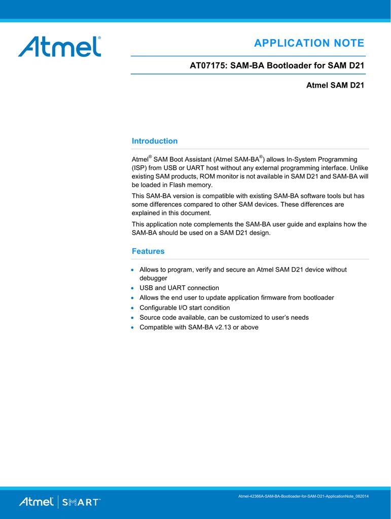 View detail for Atmel AT07175: SAM | manualzz com