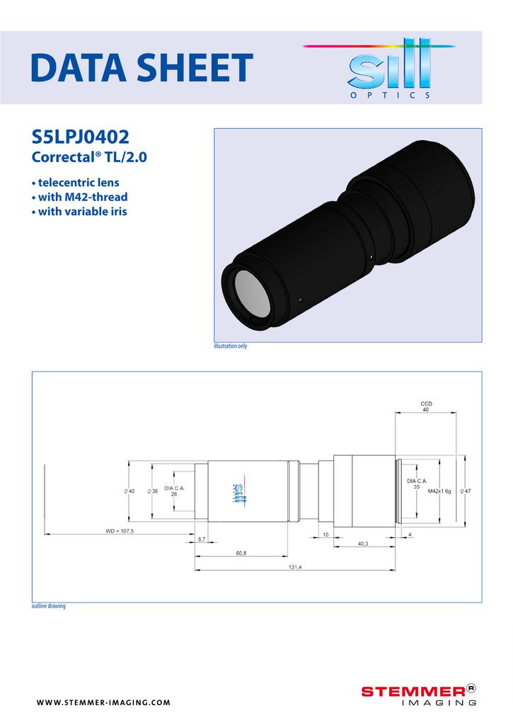Sill Optics Correctal TL//2.0  S5LPJ0422 C-Mount Anschluss