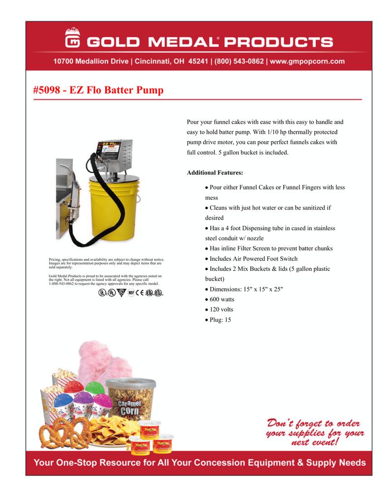5098 - EZ Flo Batter Pump   manualzz com