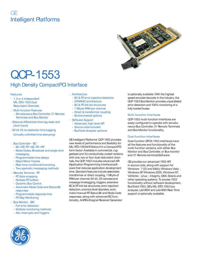 GE Fanuc QCP-1553 Datasheet | manualzz com