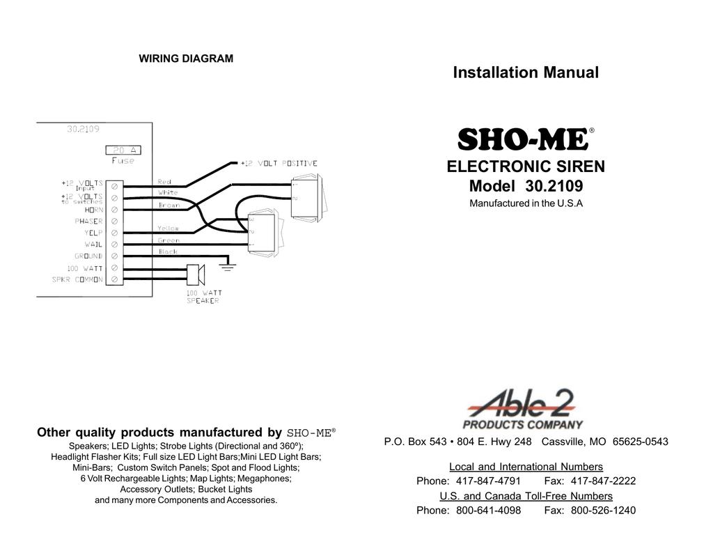 Svp Siren Wiring Diagram