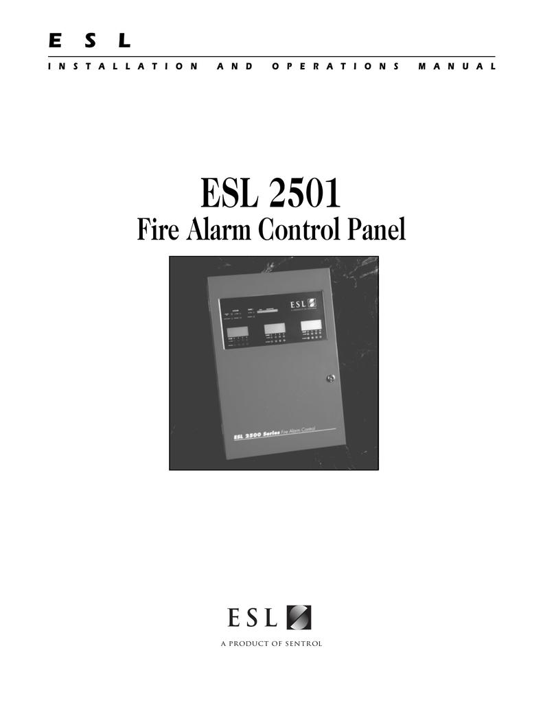 ESL 2501 Fire Alarm Control Panel_Install & Operations ... Handke Alarm Wiring Diagram on
