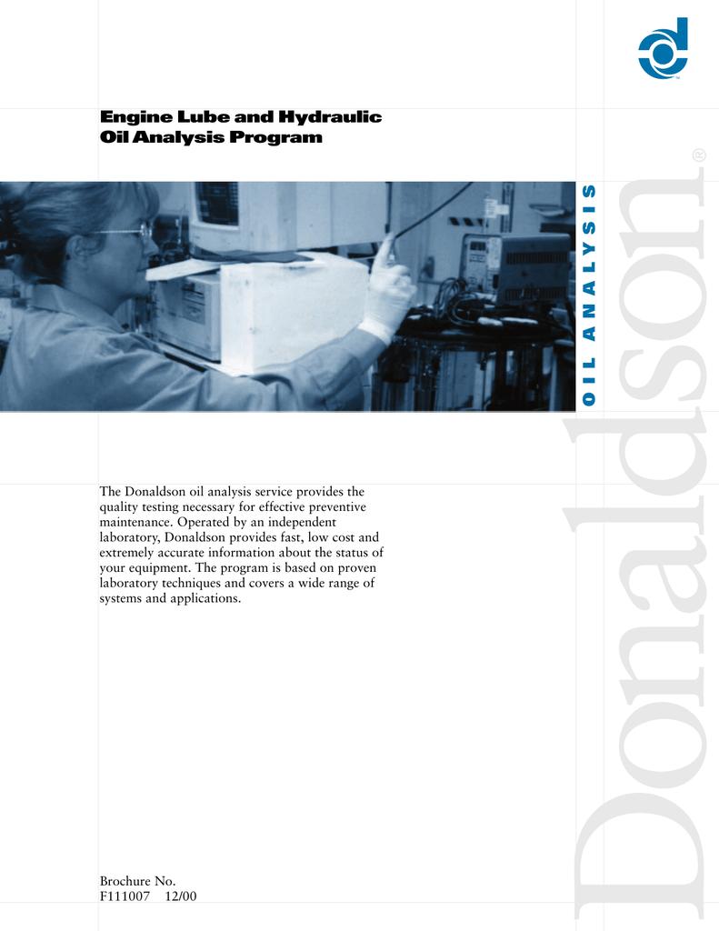Engine Lube and Hydraulic Oil Analysis Program   manualzz com