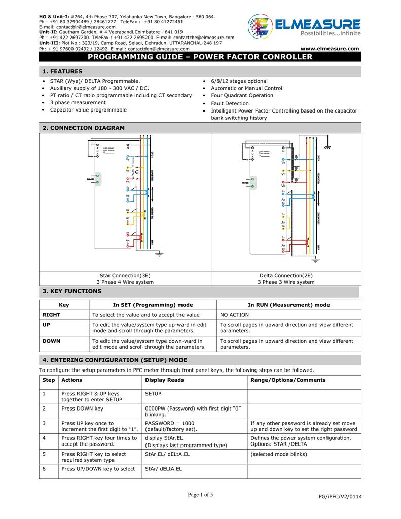 Intelligent Power Factor Controller Programming Guide | manualzz com