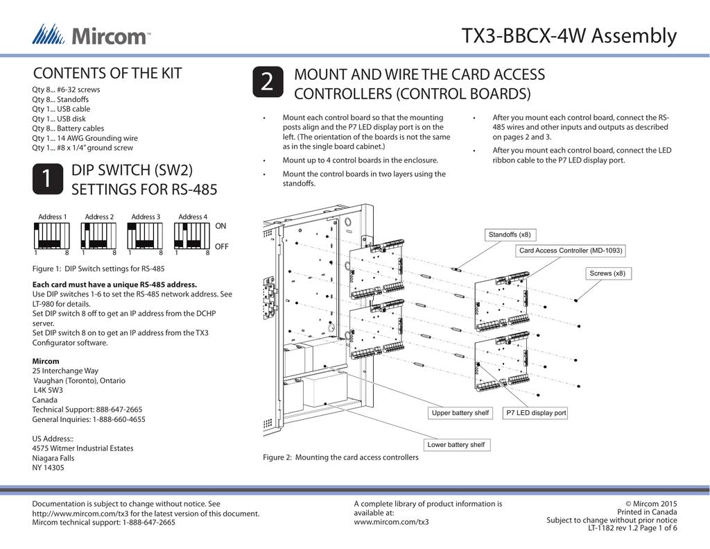 Lt 1182 Installing Tx3 Bbcx 485 Wiring Connection Diagram