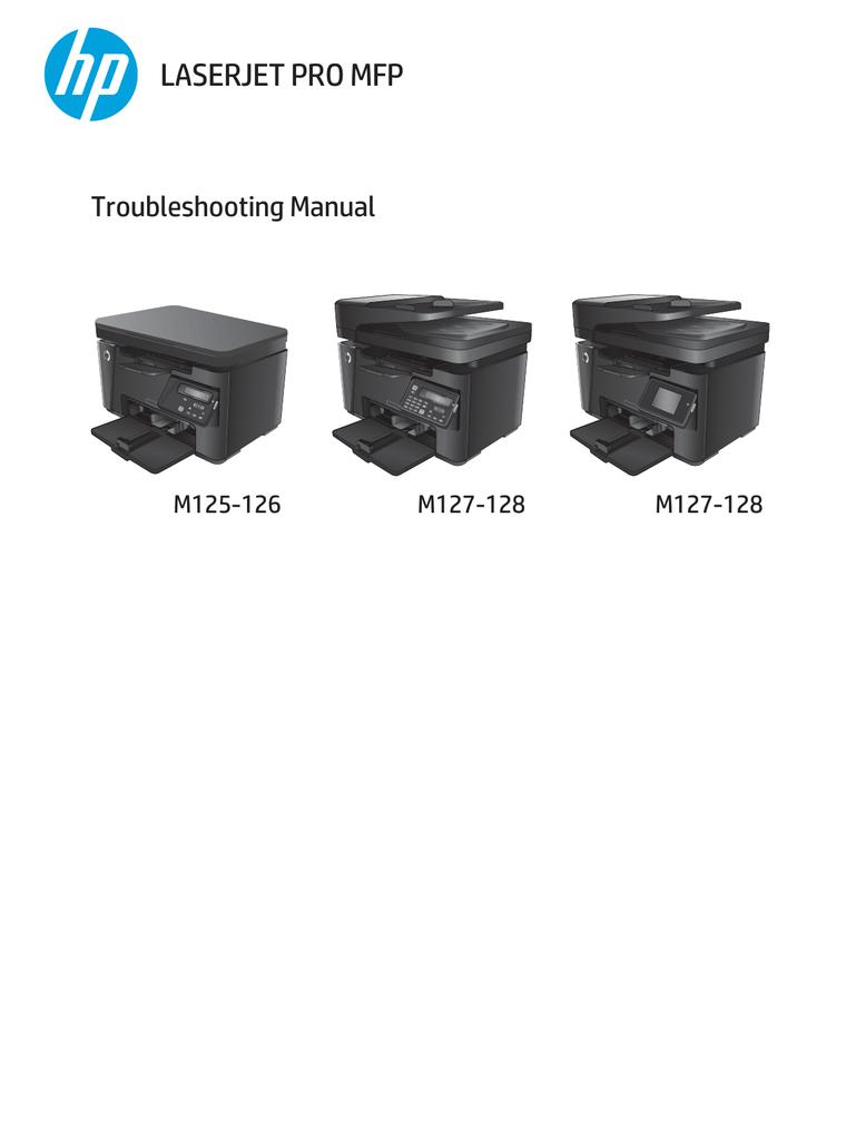 Laserjet Pro Mfp Troubleshooting Manual M125