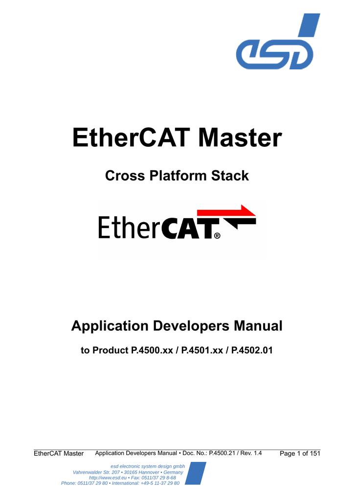 EtherCAT ® Master Developers Handbook (PDF file)    manualzz com