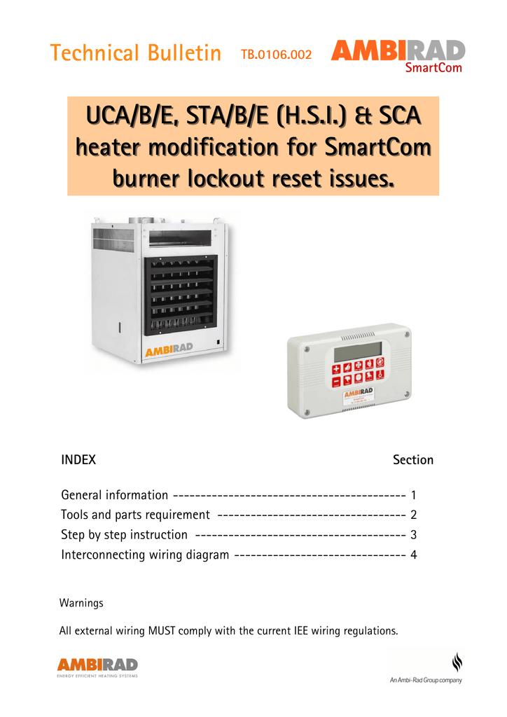 UCA/B/E, STA/B/E (H.S.I.) & SCA heater modification for SmartCom ...