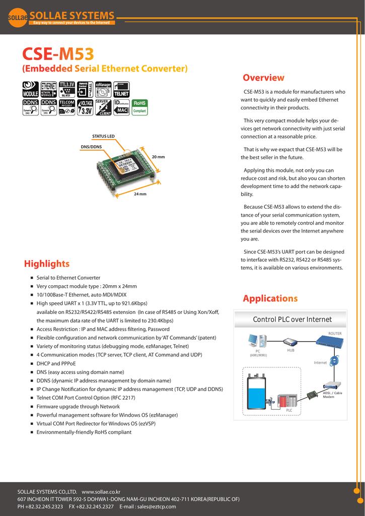 CSE-M53 Data Sheet [PDF/1580KB] | manualzz com