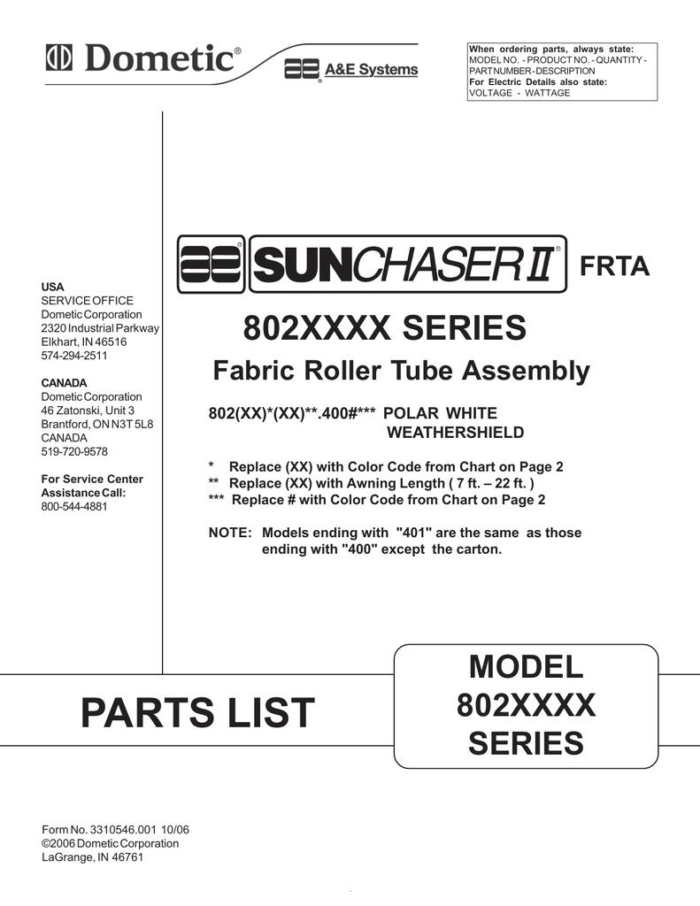 Sunchaser - II Parts List | manualzz com