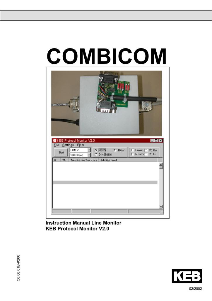 KEB Protocol Monitor v2.0 | manualzz.com on