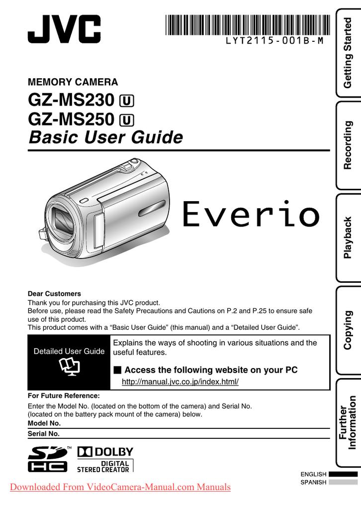 Mini USB B 2.0 Cable De Datos Cable Fr JVC Everio GZ-Serie MS Video Cámara Videograbadora