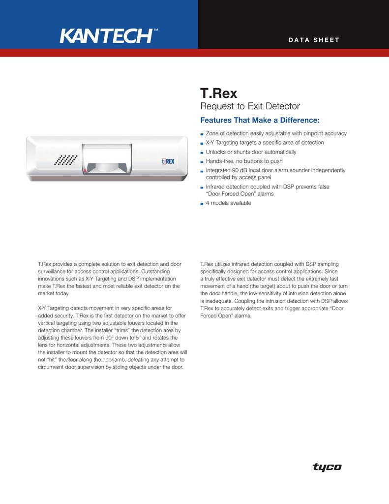 Kantech TRex Request to Exit Detector Brochure   manualzz.com on
