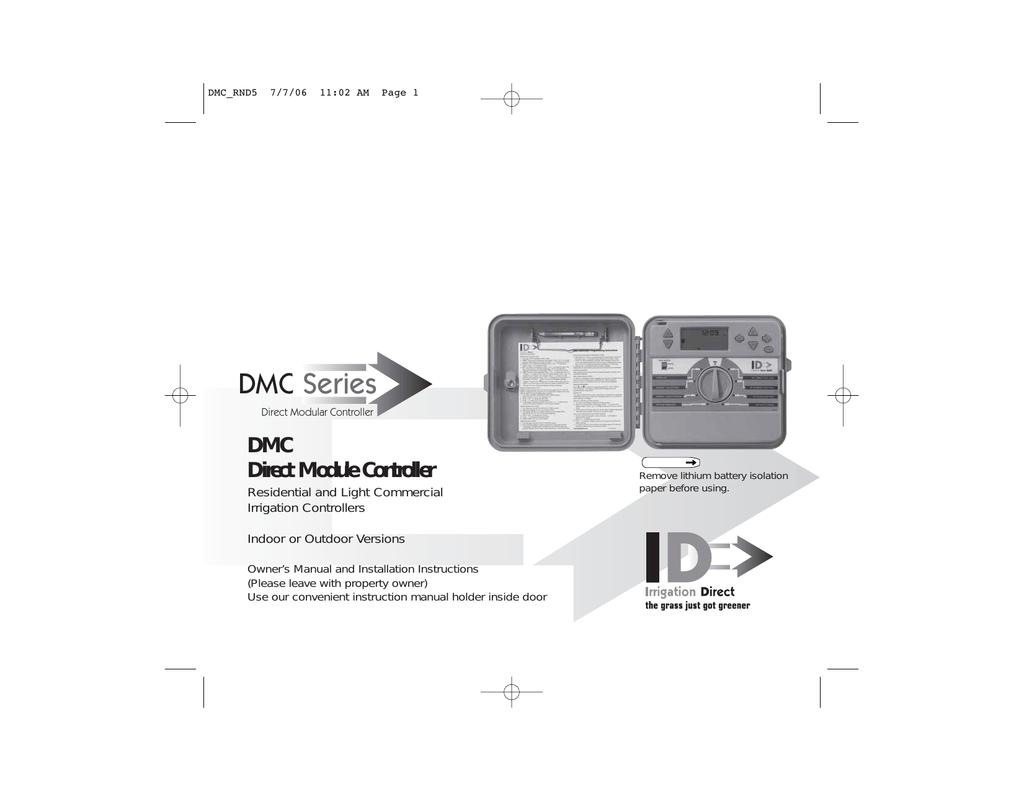 Irrigation Direct DMC Controller | manualzz com