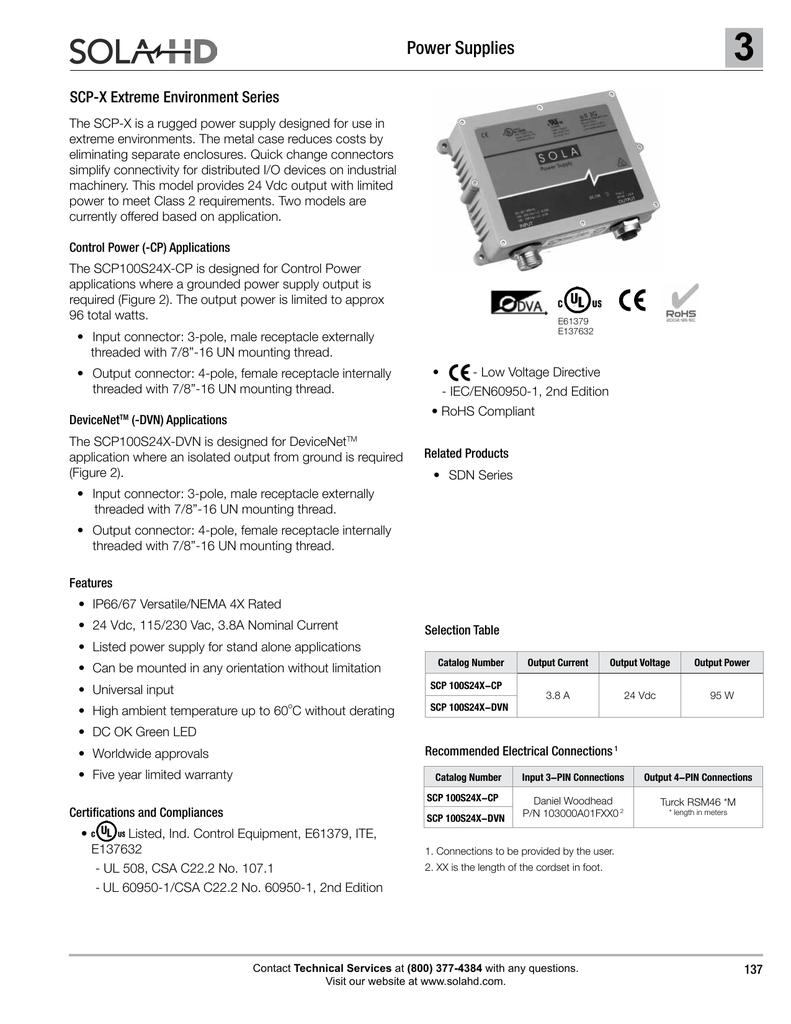 3 Power Supplies SCP-X Extreme Environment Series   manualzz com