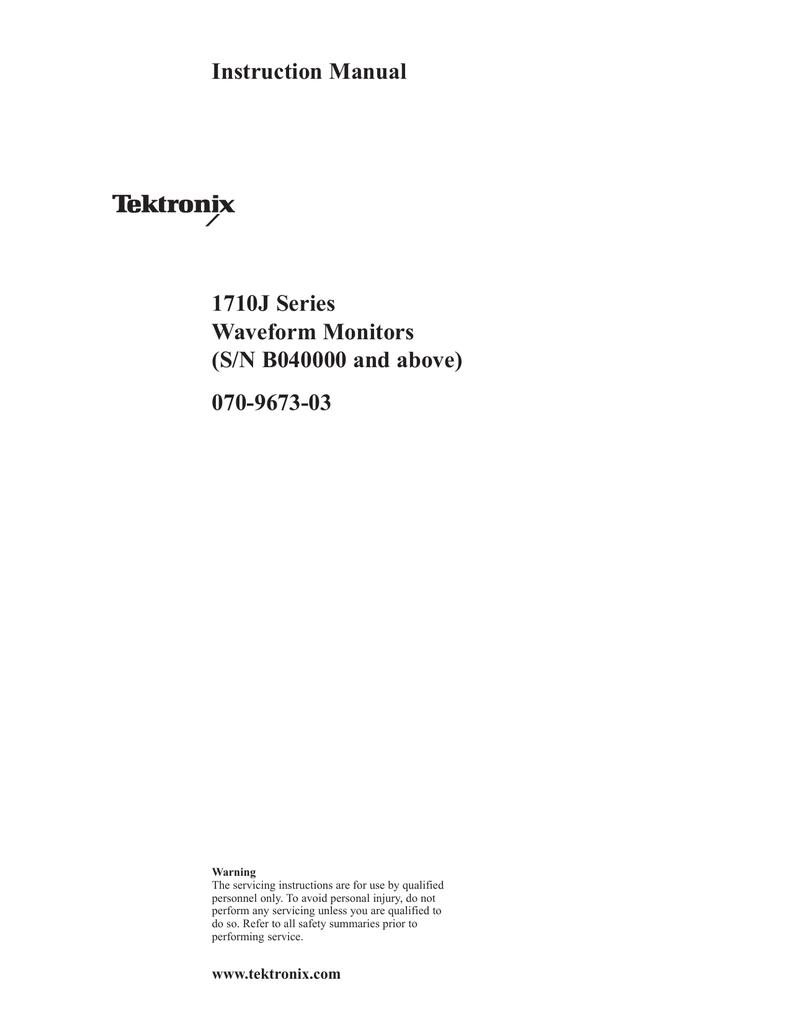 Tek 1710J manual | manualzz com
