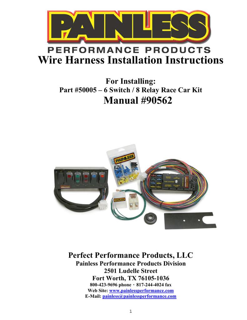 painless performance wiring diagram water pump 50005 manualzz  50005 manualzz