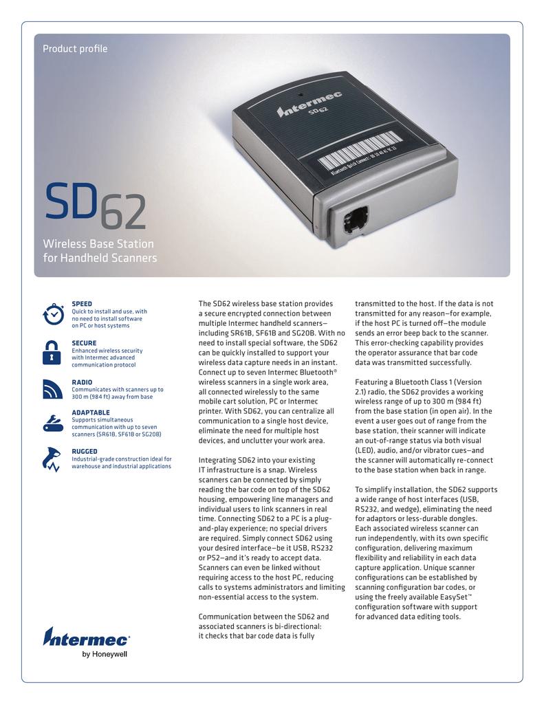 Intermec Sabre 1552 Wireless Barcode Scanner  9745 Base Station /& software