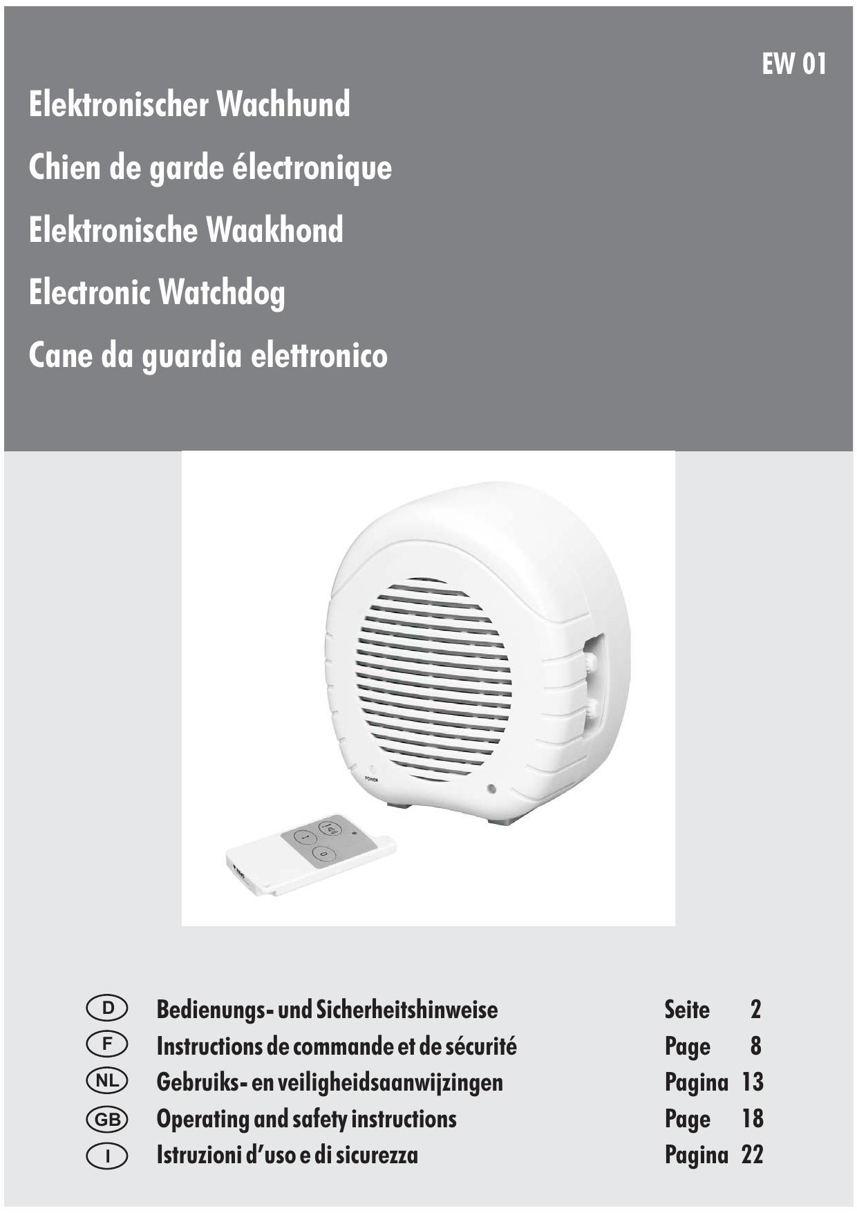 Elektronischer Wachhund Chien de garde électronique Elektronische Waakhond Electronic Watchdog
