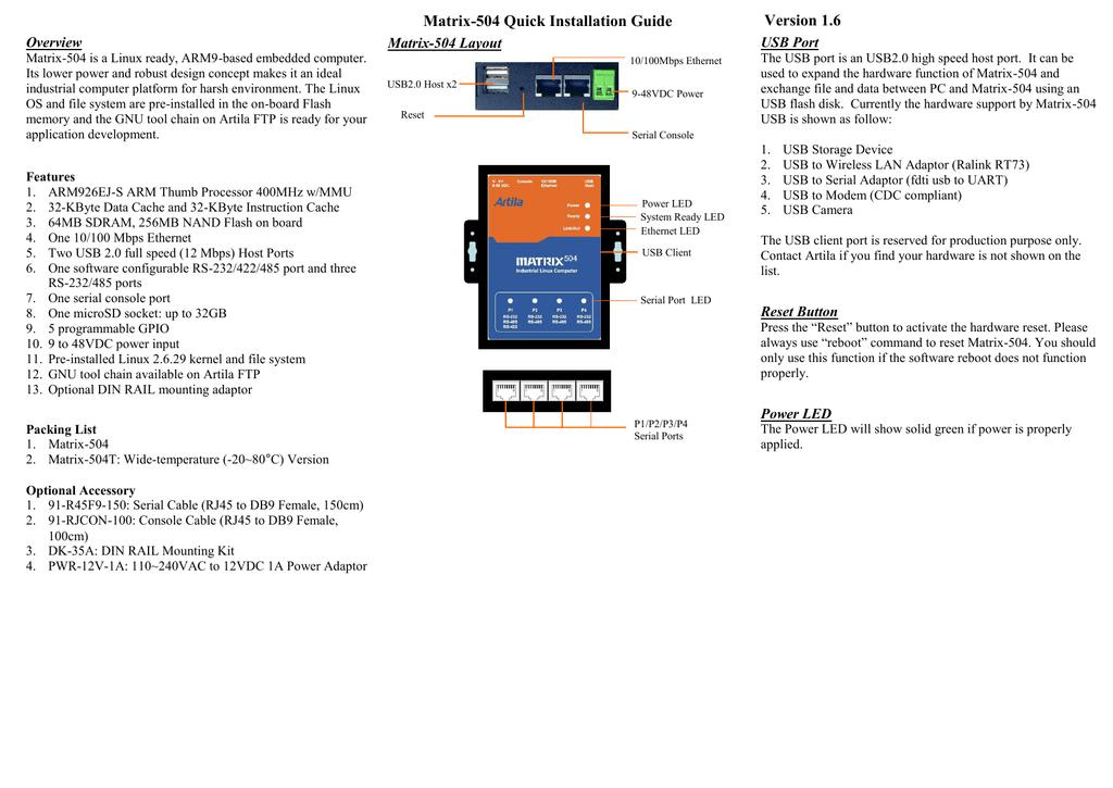 Matrix-504_manual | manualzz com