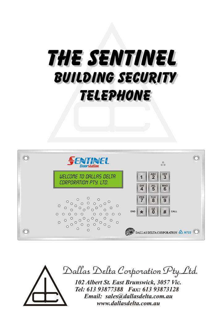 Dallas Delta Sentinel Mk3 V7 Manualzz