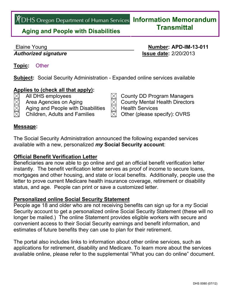 Social Security Letter Of Benefits.Spd Im 13 011 Manualzz Com