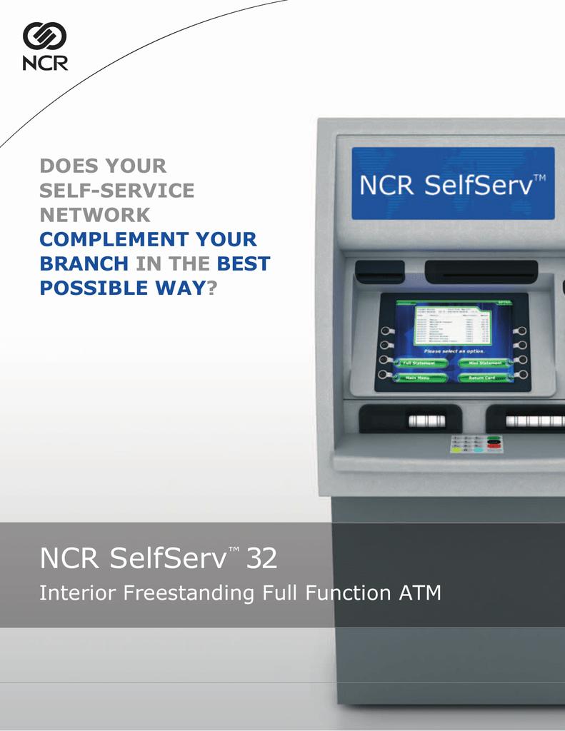 NCR SelfServ 32 | manualzz com