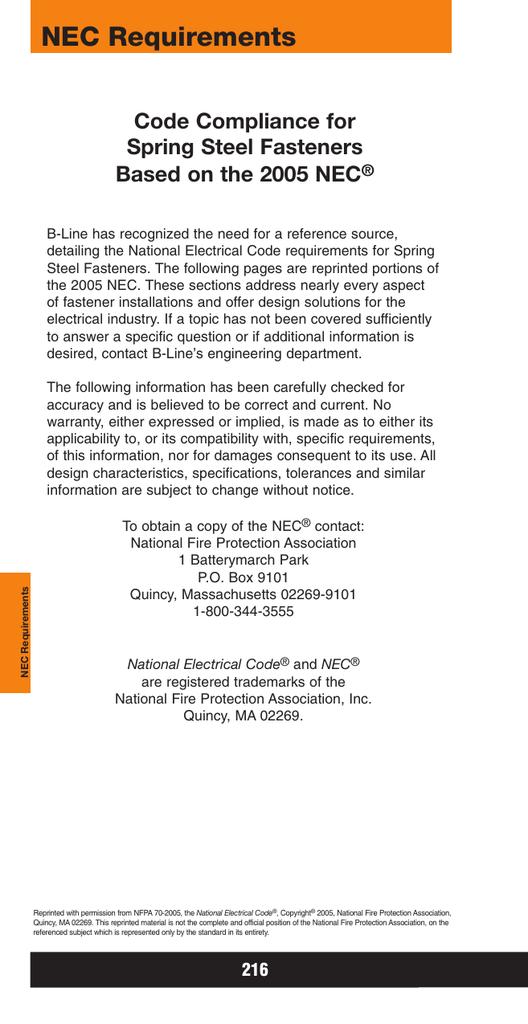 NEC Requirements, TIA/EIA   manualzz.com