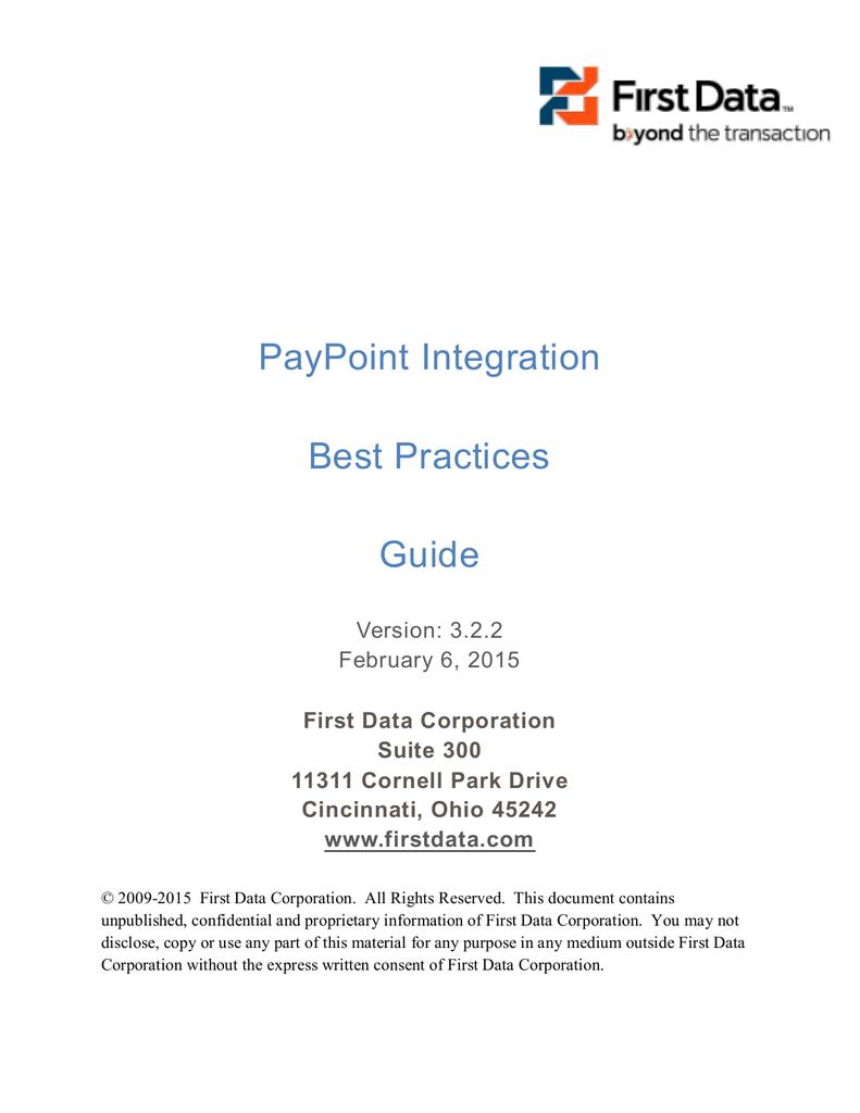 PayPoint Integration Best Practices Guide PDF   manualzz com