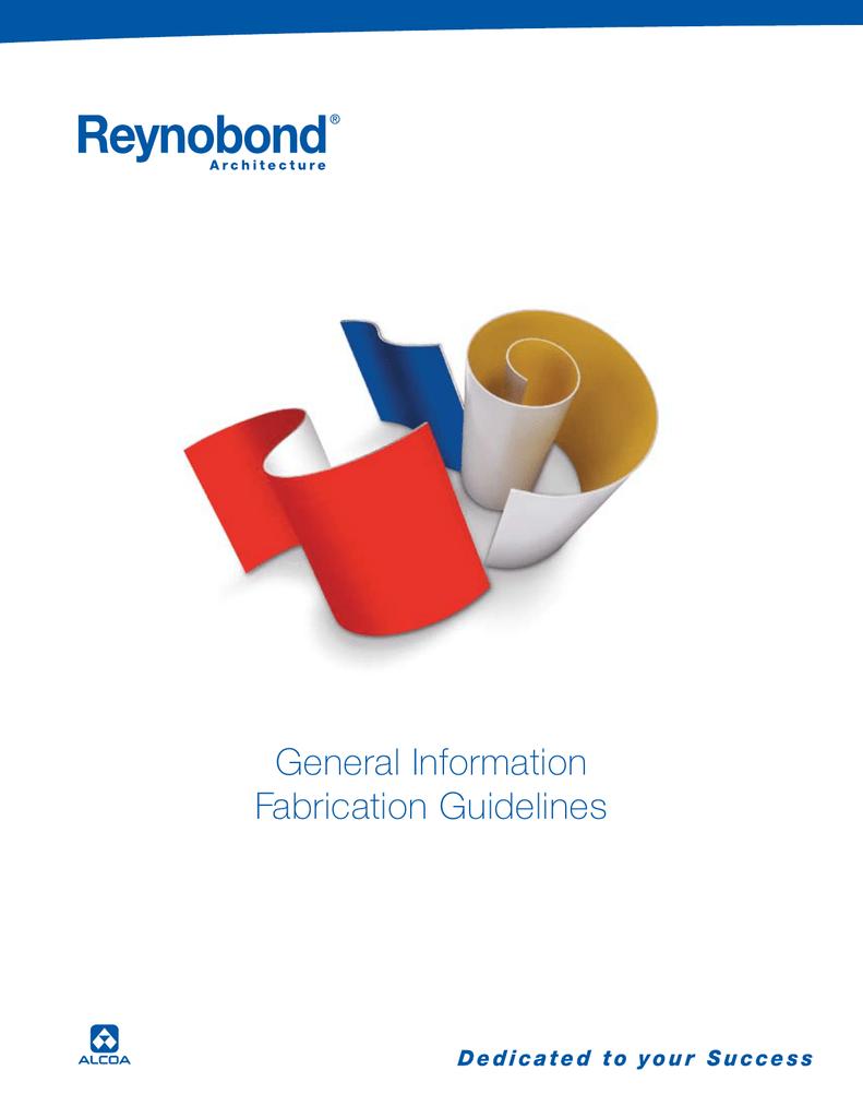 Reynobond Fabrication Guidelines | manualzz com