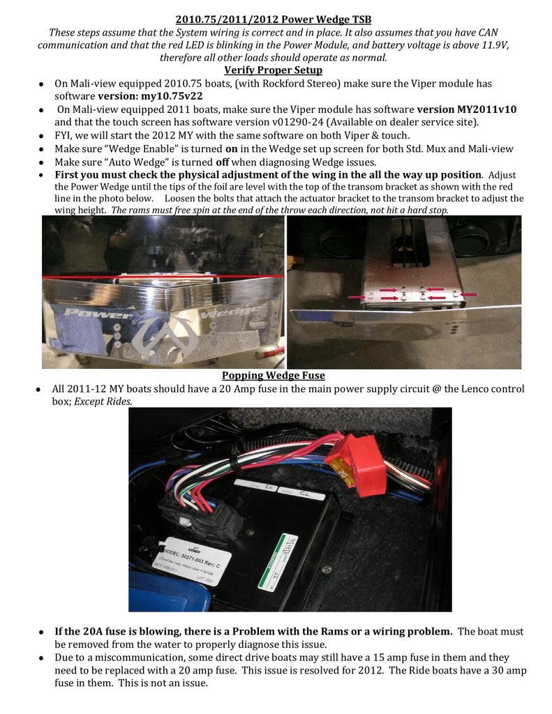 Malibu Power Wedge Diagnostic Manual | Manualzz | Malibu Boat Fuse Box |  | manualzz