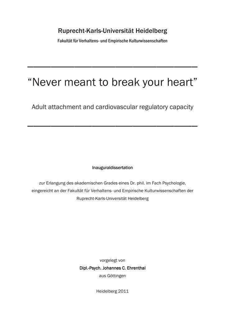 johannes ehrenthal dissertation
