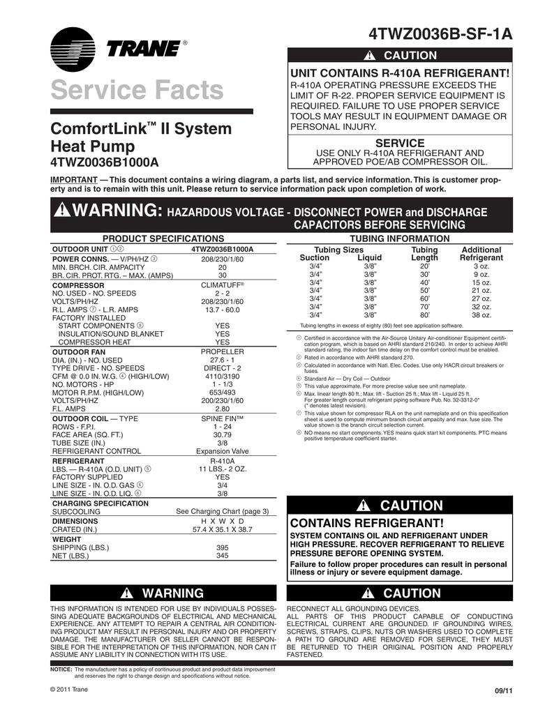 Trane Service manual trane xl20i