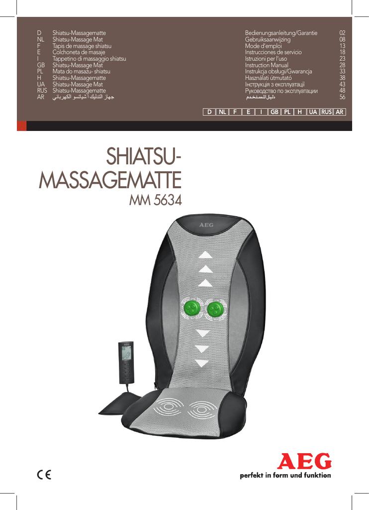 Massagegerät AEG FM 5567 Fuss