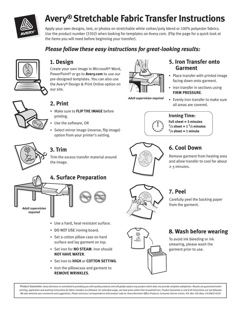 Final Stretchable Transfer Instructions Manualzz