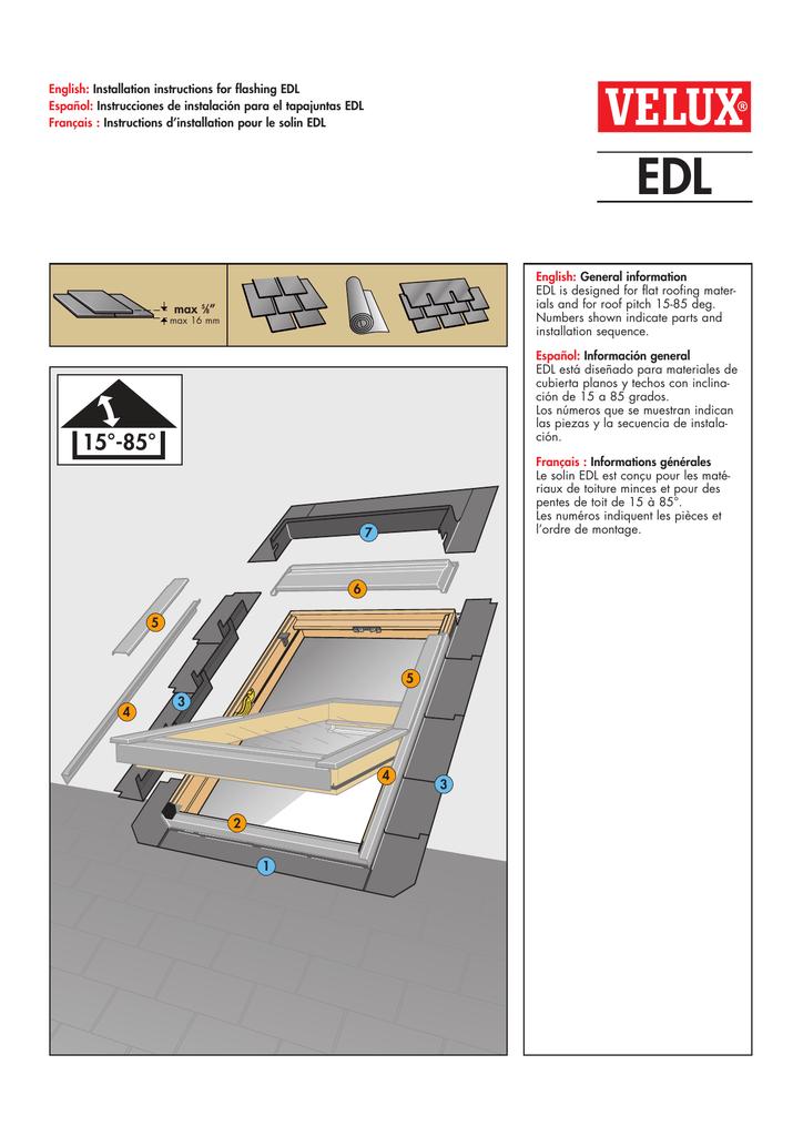 Edl Step Flashing For Gdl Ggl Gpl Manualzz