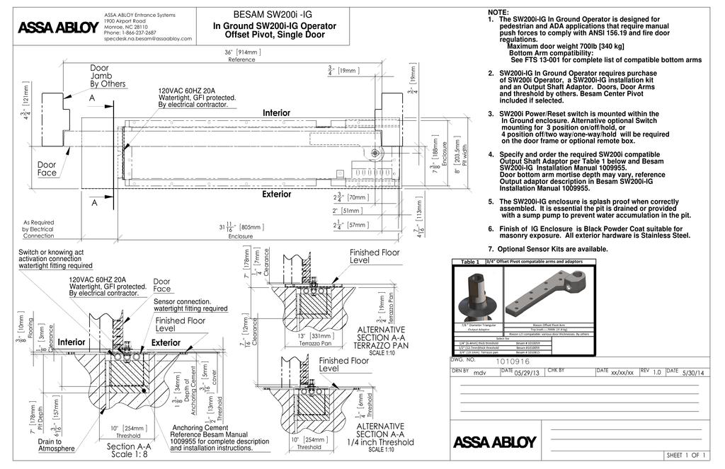 1010916 sw200i ig offset pivot single door rev 1 0 361 kb rh manualzz com besam unislide installation manual besam sl500 installation manual