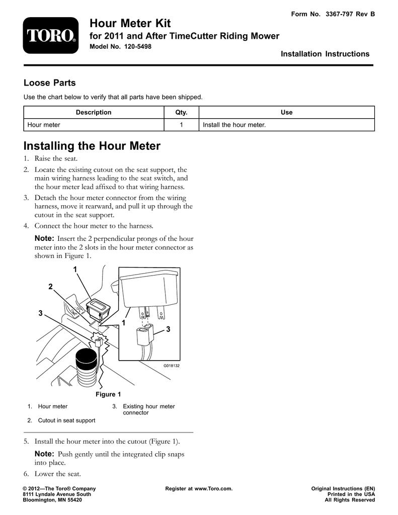 Toro 120 5498 Installation Instructions Manualzz
