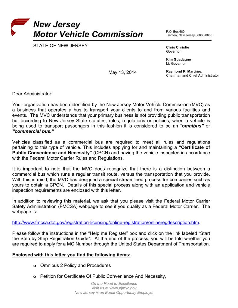 new jersey motor vehicle license renewal