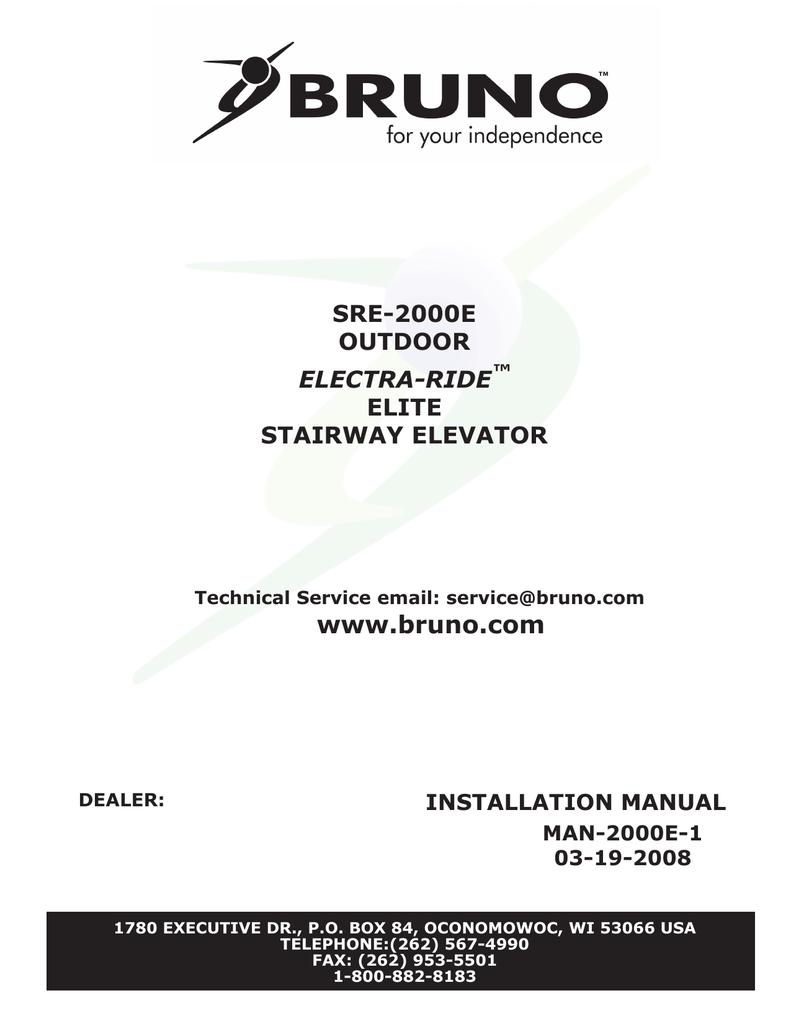 [QNCB_7524]  SRE-2000E Electra-Ride Elite Outdoor Installation Manual | Manualzz | Bruno Wiring Diagram |  | manualzz