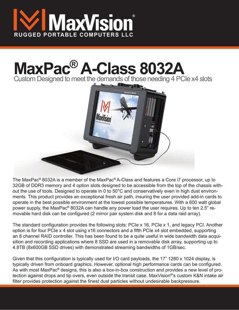 8032a Spec Sheet Manualzz Com